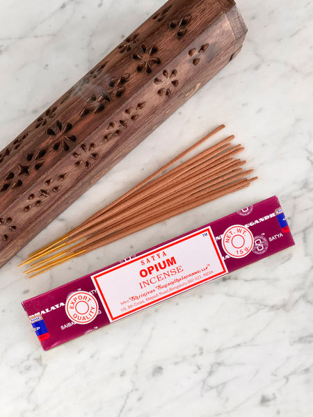 Satya Incense Sticks OPIUM (12 sticks • 15g)