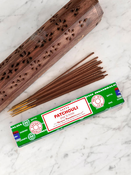 Satya Incense Sticks PATCHOULI (12 sticks • 15g)