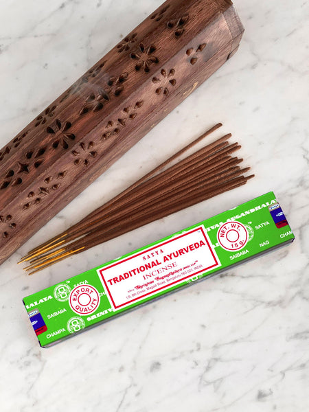 Satya Incense Sticks TRADITIONAL AYURVEDA (12 sticks • 15g)