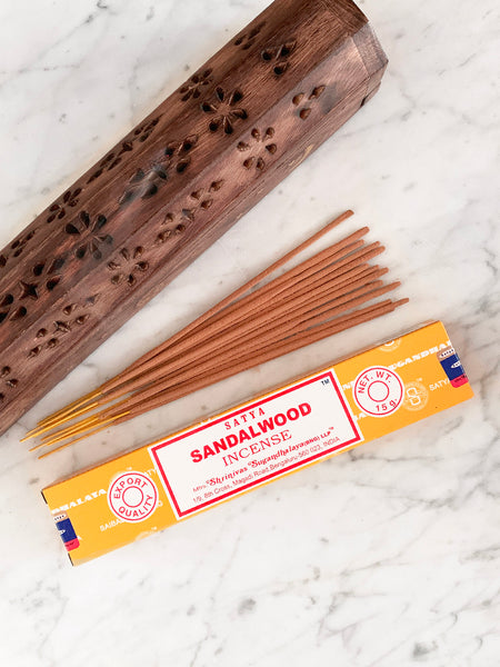 Satya Incense Sticks SANDALWOOD (12 sticks • 15g)