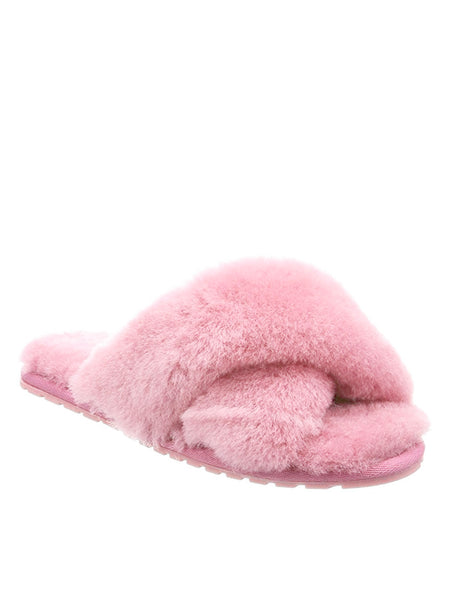 Shearling Mayberry Slides (Baby Pink) PARTIALLY STOCKED