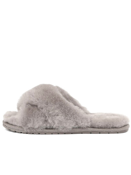 Shearling Mayberry Slides (Dove Grey)