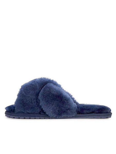 Shearling Mayberry Slides (Midnight)