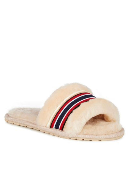 Shearling Wrenlette Slides (Natural) PARTIALLY STOCKED