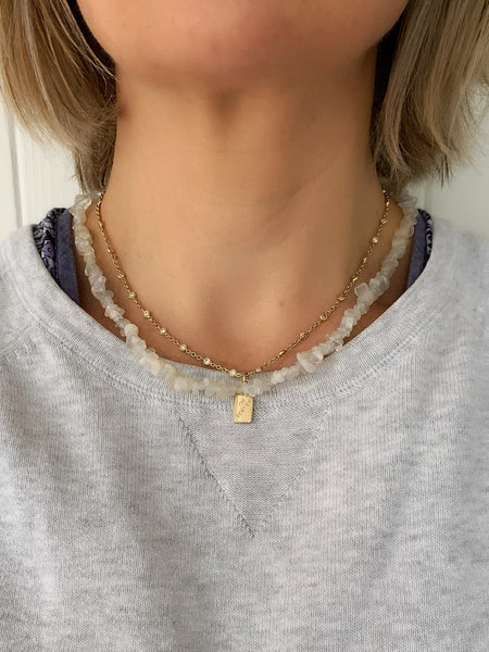 The Surfer Girl Necklace (Moonstone) PRE-ORDER