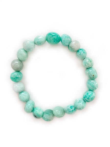 AMAZONITE Healing Crystal Bracelet • NEW