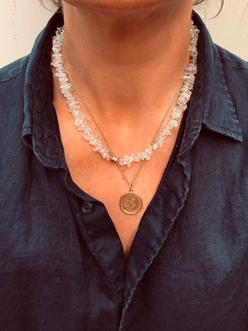 The Surfer Boy Necklace (Clear Quartz) • PRE-ORDER