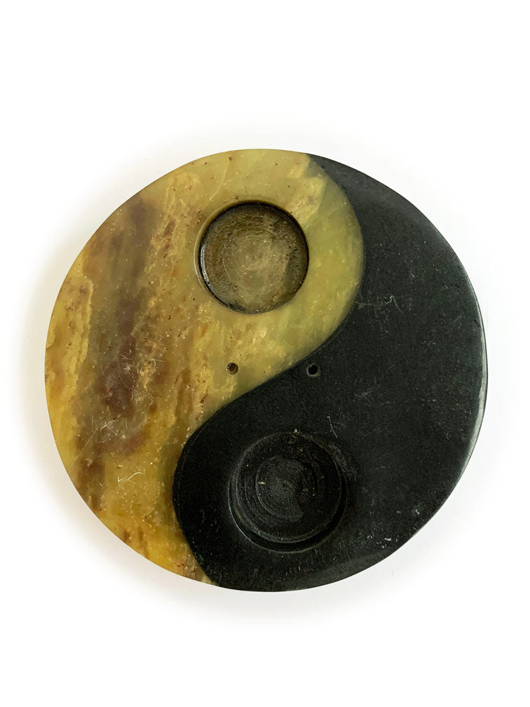 Stone Yin + Yang Incense/Cone Holder