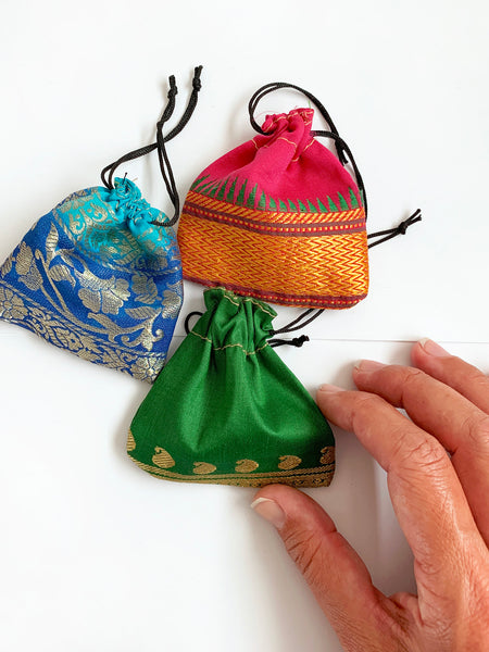 Silk Drawstring Pouch • NEW