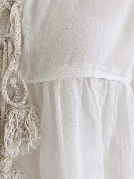 "Chowchilla Vintage Gypset Blouse ""Cotton Gauze White"""