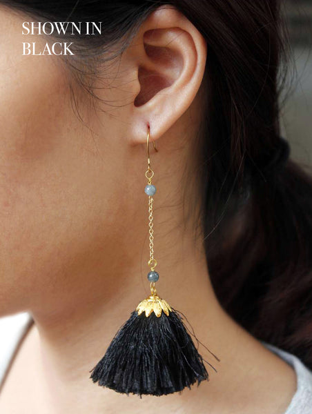 Babylon Tassel Earrings (Ocean)