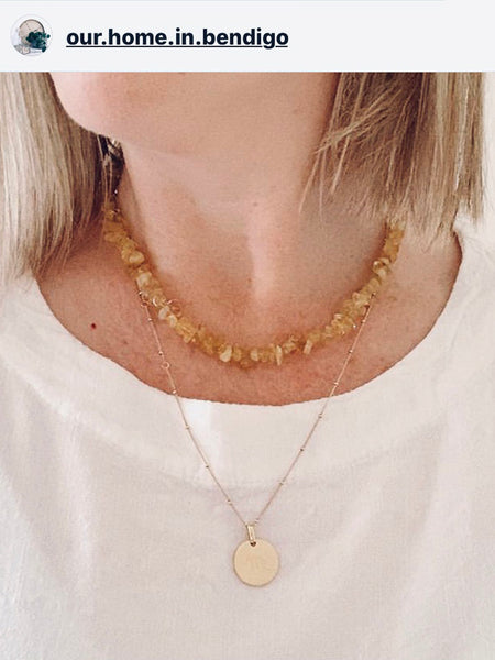 The Surfer Boy Necklace (Citrine)