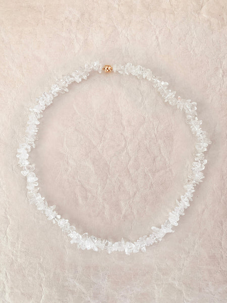The Surfer Boy Necklace (Clear Quartz)