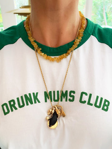 The Surfer Boy Necklace (Citrine) PRE-ORDER