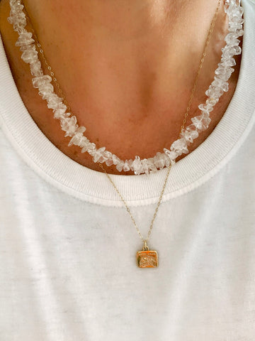 The Surfer Boy Necklace (Clear Quartz) IN STOCK