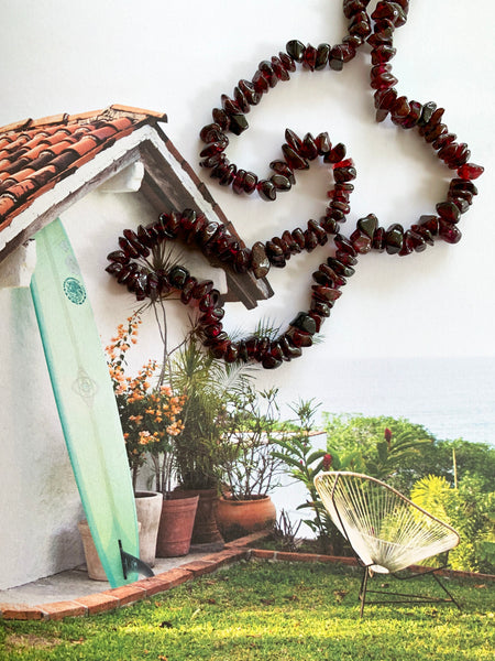 The Surfer Boy Necklace (Garnet)