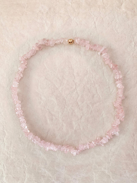 The Surfer Boy Necklace (Rose Quartz)