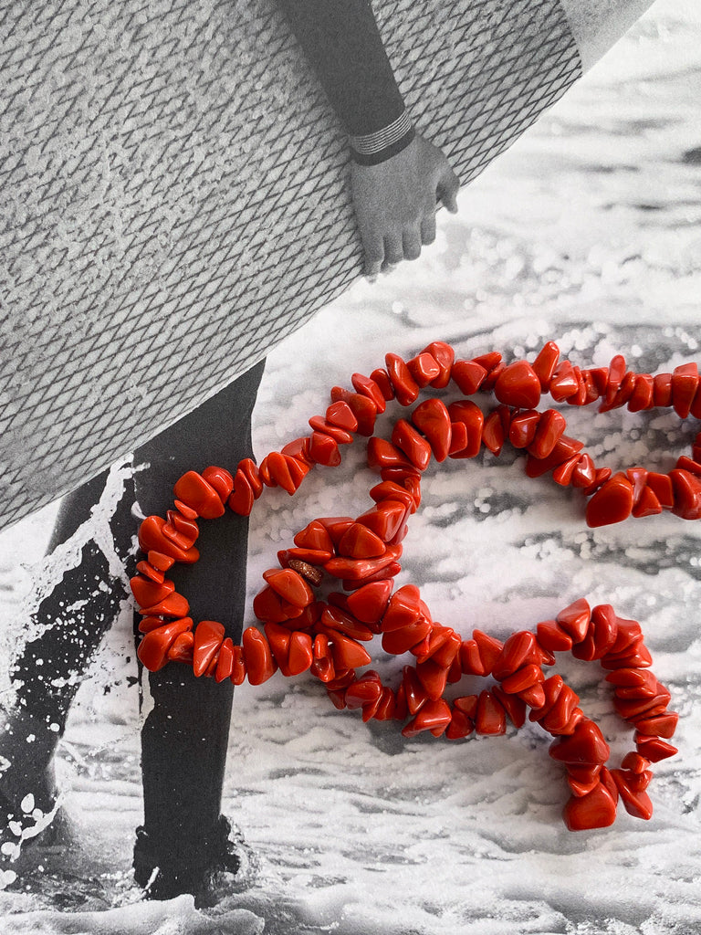 The Surfer Boy Necklace (Coral)