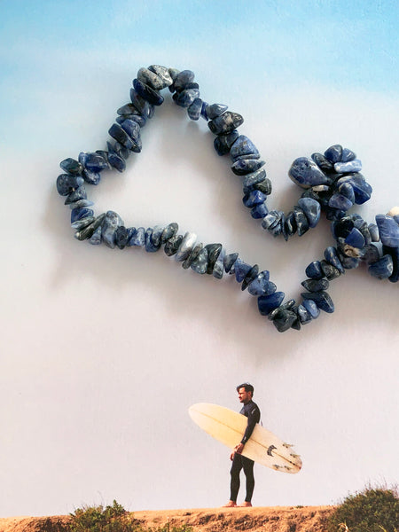 The Surfer Boy Necklace (Sodalite)