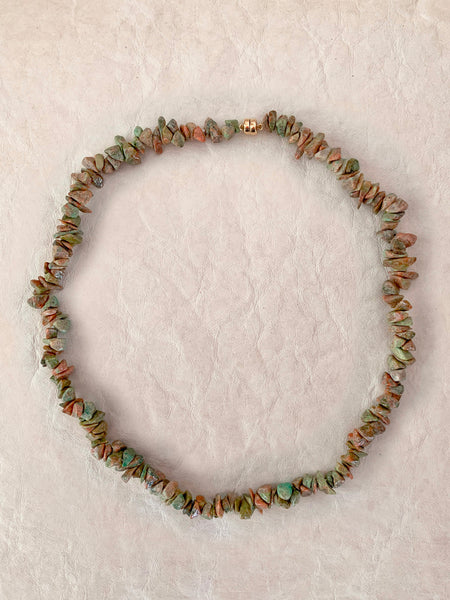 The Surfer Boy Necklace (Unakite)