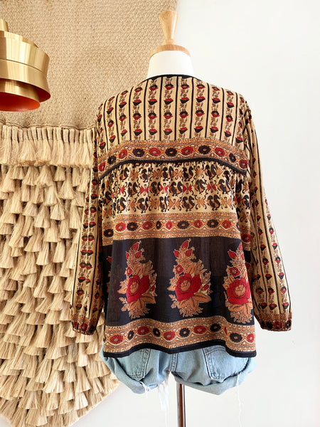 "Chowchilla Vintage Indian Gypset Blouse ""Anouk"""