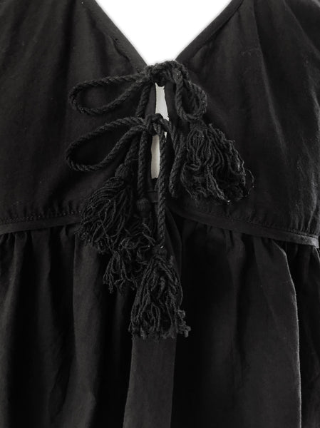 "Chowchilla Vintage Indian Gypset Dress ""Cotton Gauze Black"" • LAST ONE (Size XS)"