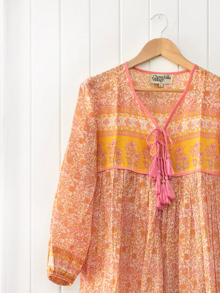 "Chowchilla Vintage Indian Gypset Blouse ""Gaia"""
