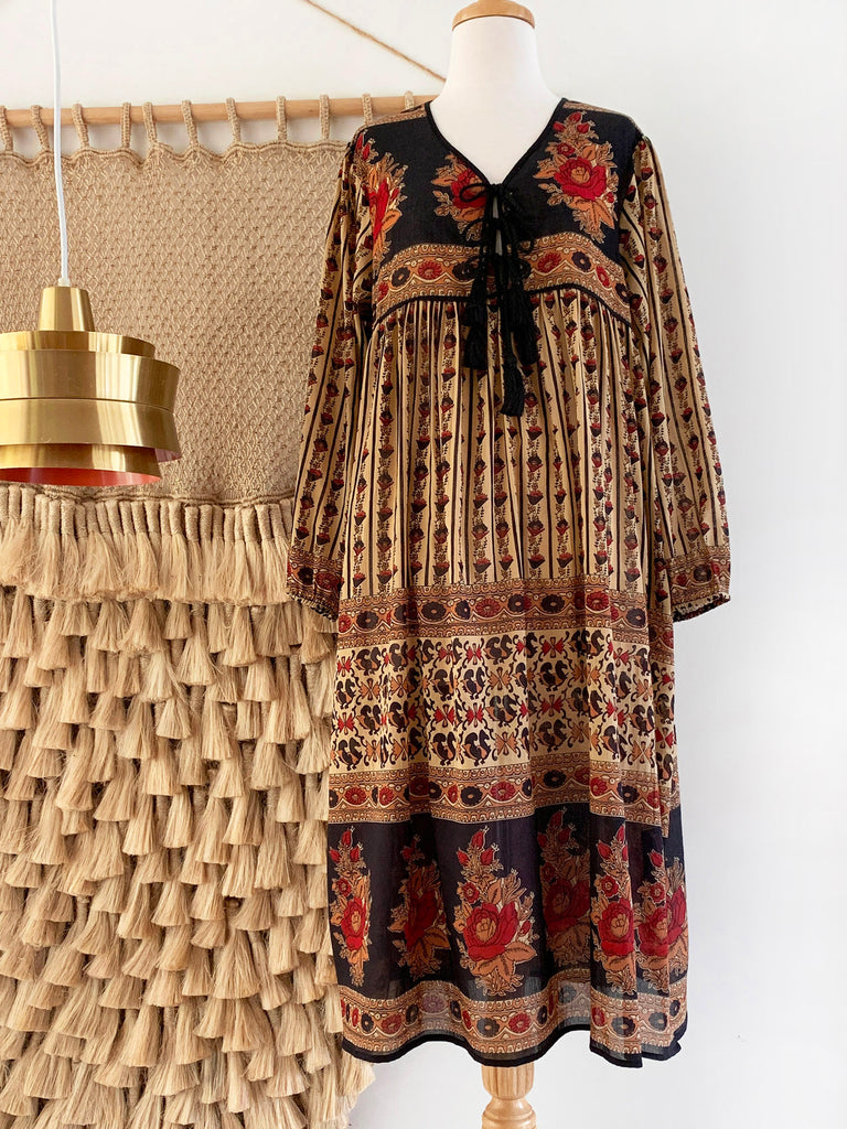 "Chowchilla Vintage Indian Gypset Dress ""Anouk"""
