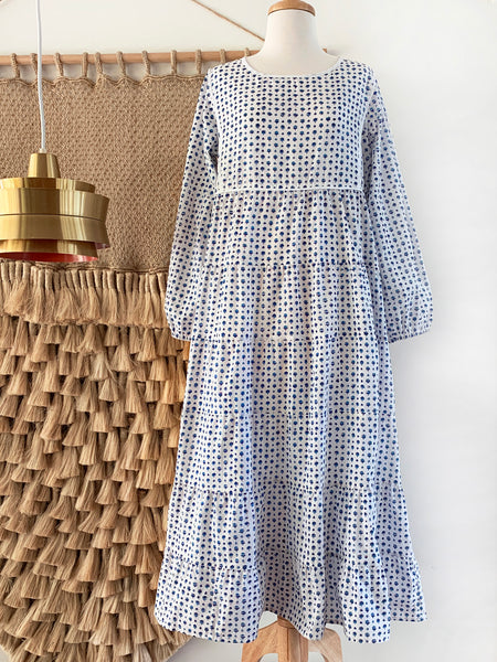 "Chowchilla Vintage Tiered Prairie Dress ""Elodie"""