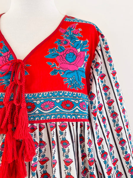 "Chowchilla Vintage Indian Gypset Dress ""Manon"""