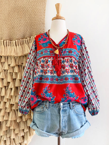 "Chowchilla Vintage Indian Gypset Blouse ""Manon"""