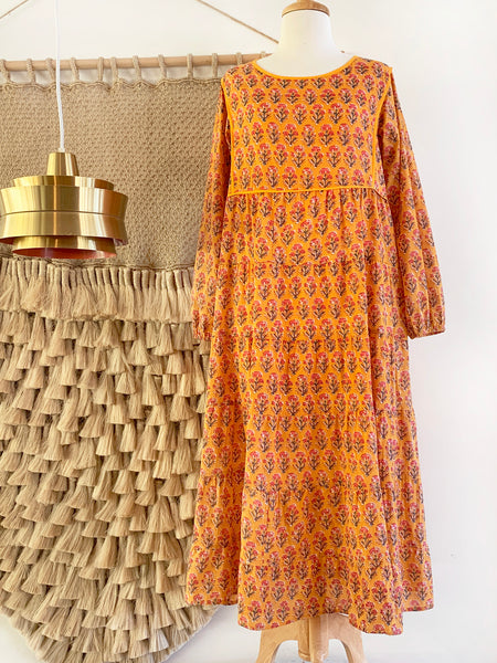 "Chowchilla Vintage Tiered Prairie Dress ""Amber"" • PARTIALLY STOCKED"