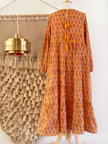 "Chowchilla Vintage Tiered Prairie Dress ""Amber"""