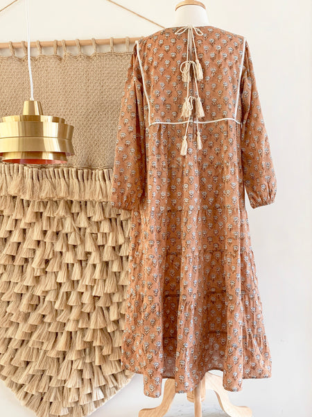 "Chowchilla Vintage Tiered Prairie Dress ""Chloe"""