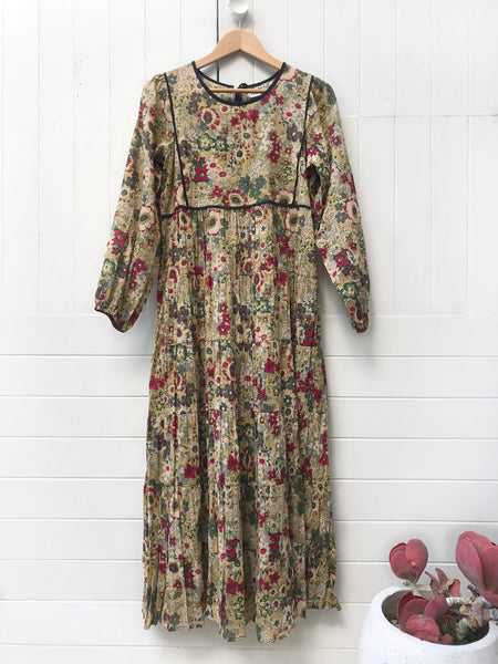 "Chowchilla Vintage Prairie Dress ""Marni"" (Green)"