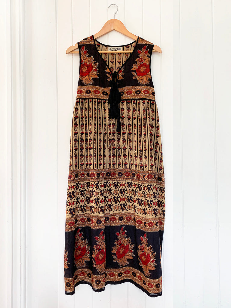 "Chowchilla Vintage SLEEVELESS Indian Gypset Dress ""Anouk"""