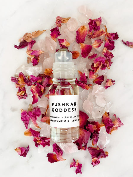 Petal Infused Perfume Oil (PUSHKAR GODDESS) • 5ml/10ml