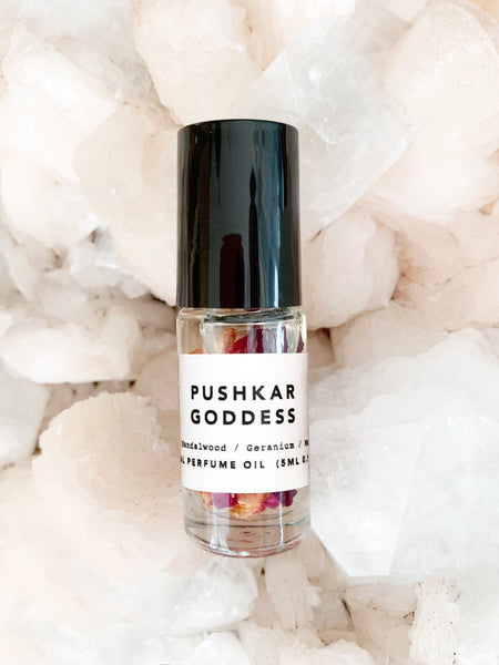 Petal Infused Natural Perfume Oil (Pushkar Goddess) 5ml