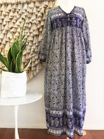 "Chowchilla Vintage Gypset Dress ""Leisha"" (Indigo)"