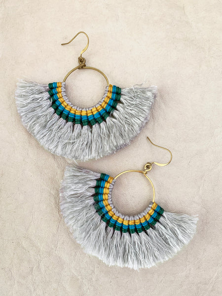 Havanah Ray Tassel Earrings (Slate)