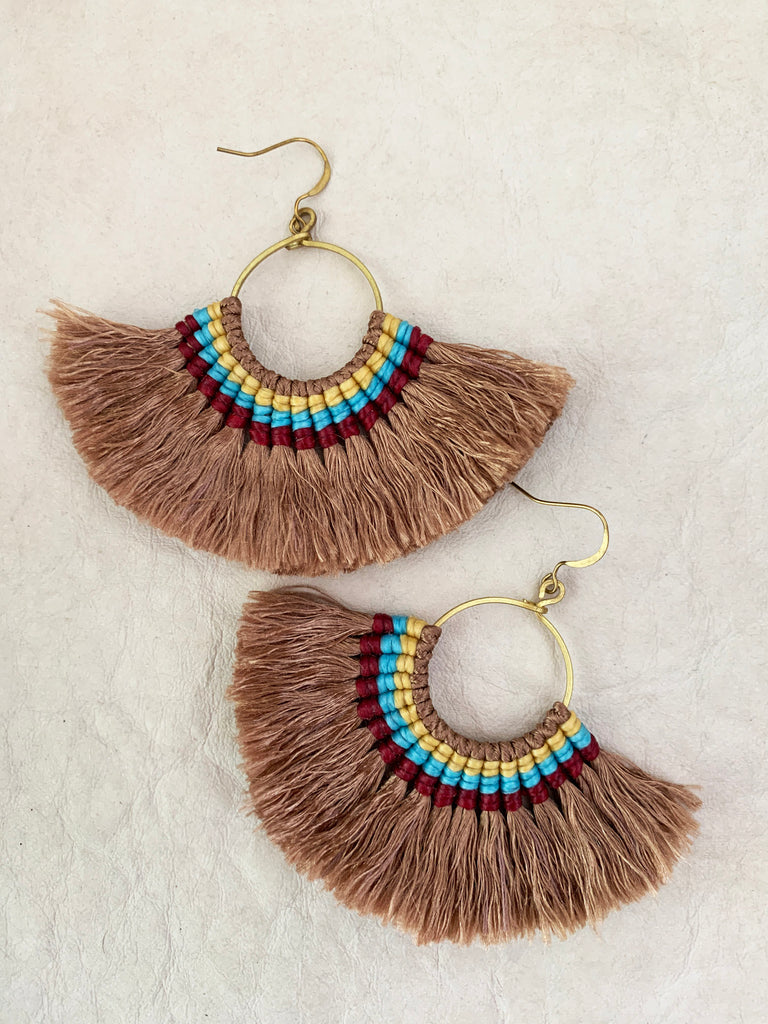 Havanah Ray Tassel Earrings (Mocha)
