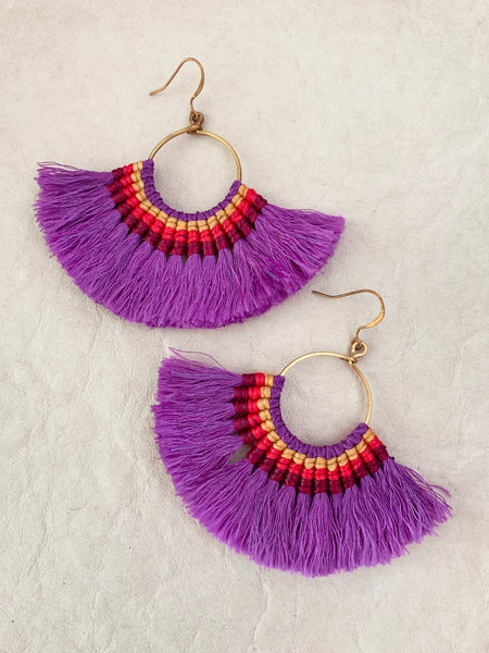 Havanah Ray Tassel Earrings (Violet)