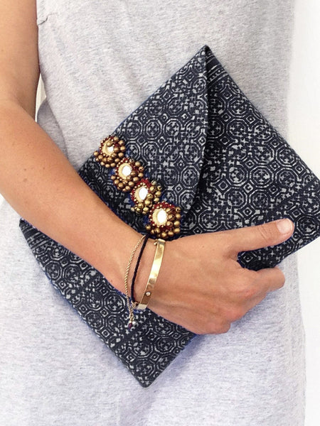 Infinite Love Mirror Clutch (Indigo) IN STOCK