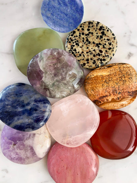 CHAKRA Palm Stone Crystal Set (10 pieces)