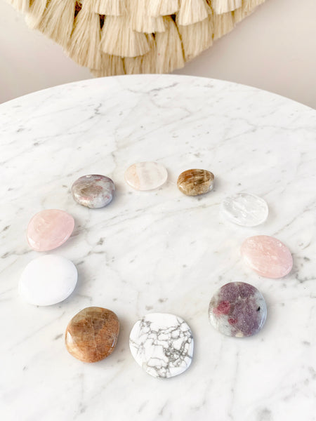 GODDESS Palm Stone Crystal Set (10 pieces)