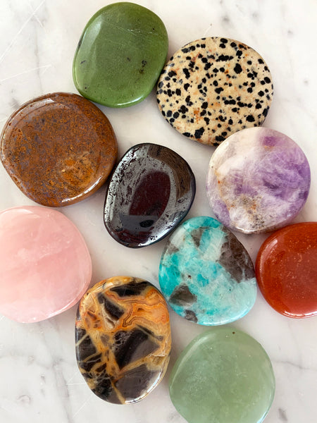GROUNDING Palm Stone Crystal Set (10 pieces) • NEW