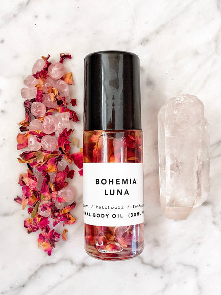 Crystal + Petal Infused Body Oil (BOHEMIA LUNA) • 30ml