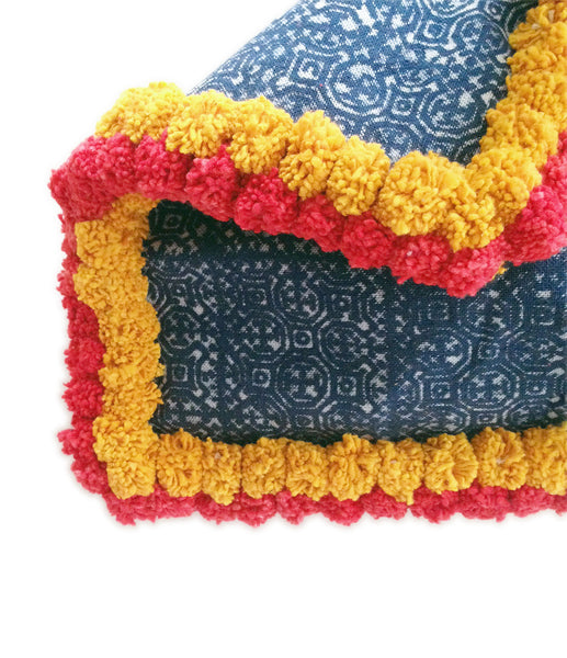 Almighty Love Pompom Clutch (Yellow/Red)