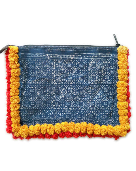 Almighty Love Pompom Clutch (Yellow/Red) PRE-ORDER