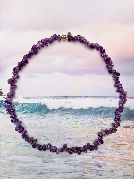 The Surfer Boy Necklace (Amethyst)